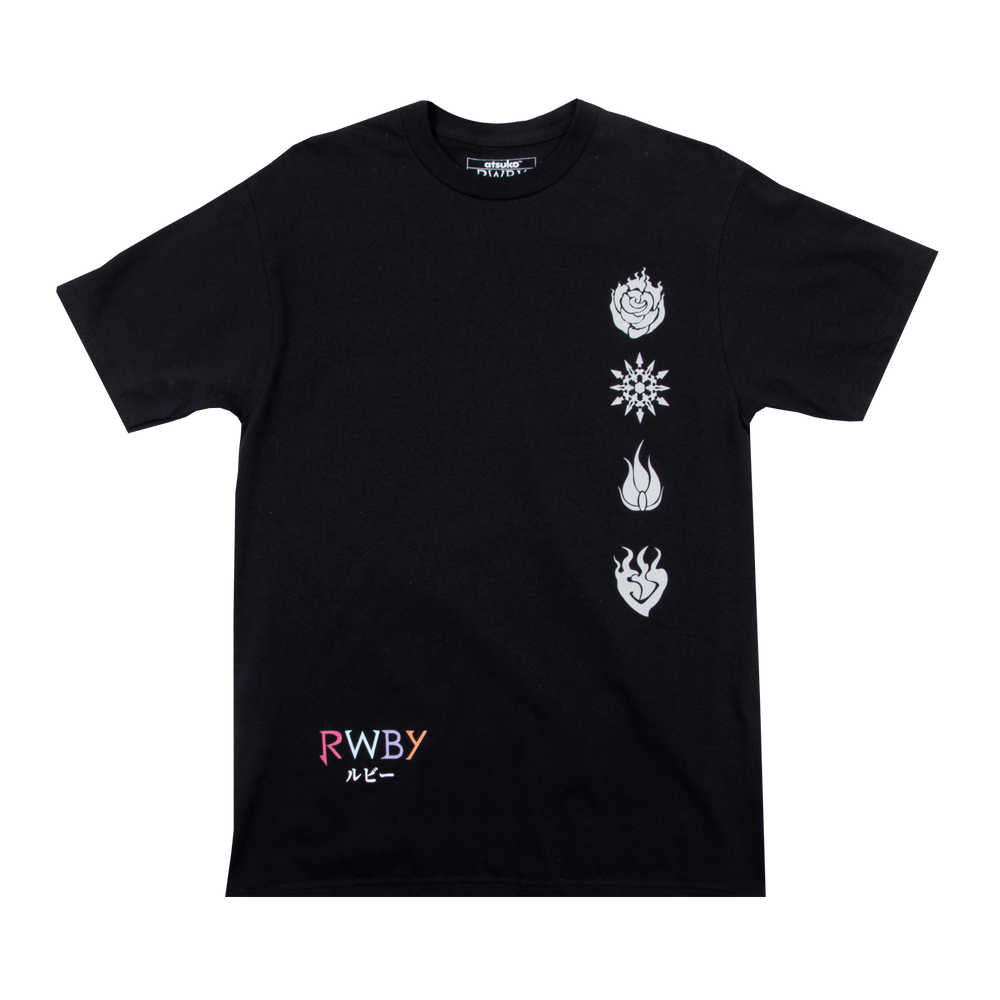 RWBY The Manga Group Panels Black Tee