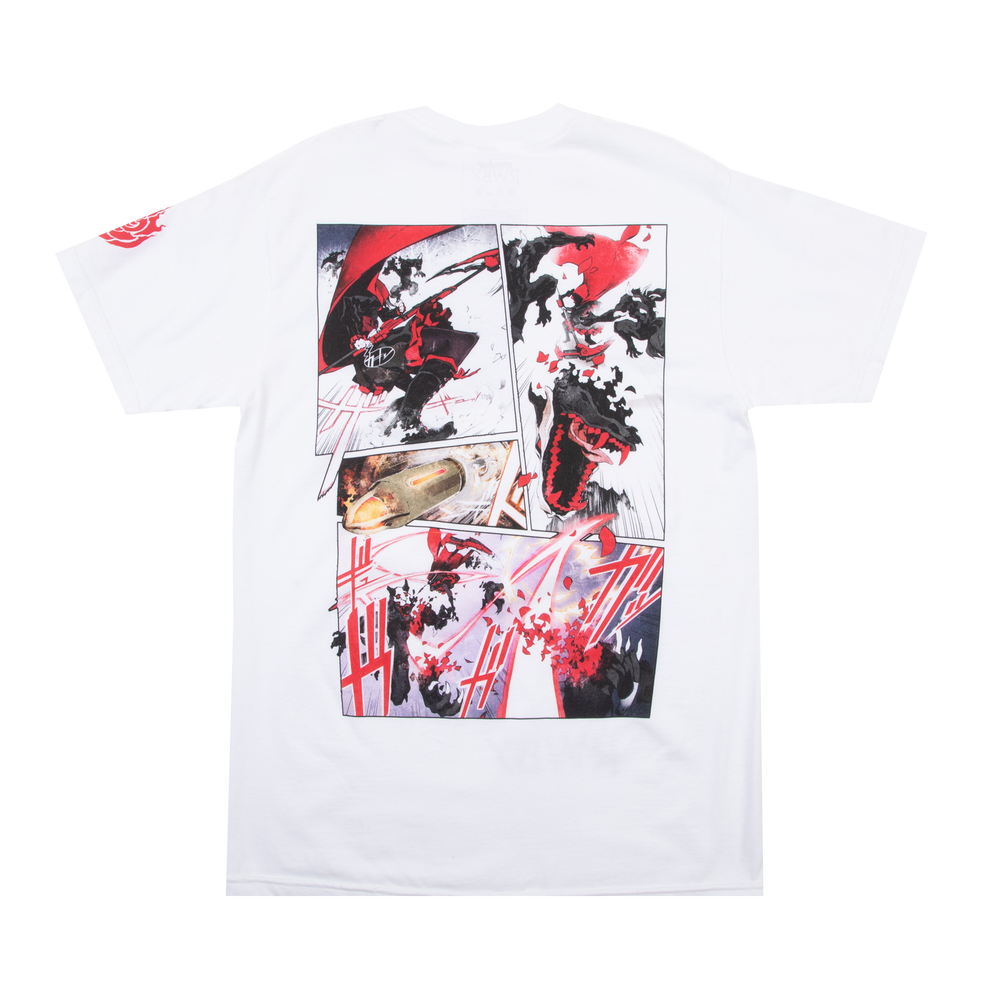 RWBY The Manga Ruby Fight White Tee
