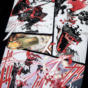 RWBY The Manga Ruby Fight Black Tee