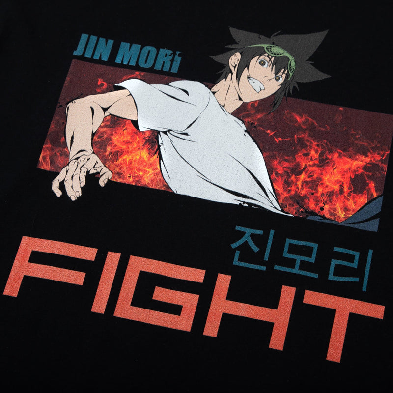 The God of High School Jin Mori Fight Black Tee