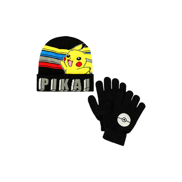 Pokémon Youth Beanie & Gloves Set