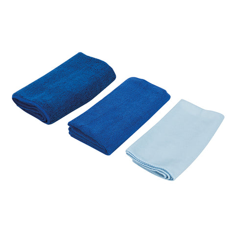 Silverline-Microfibre Cloth Cleaning Set 3pce