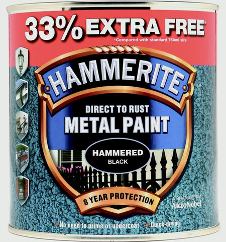 Hammerite-Metal Paint Hammered 750ml + 33% Free
