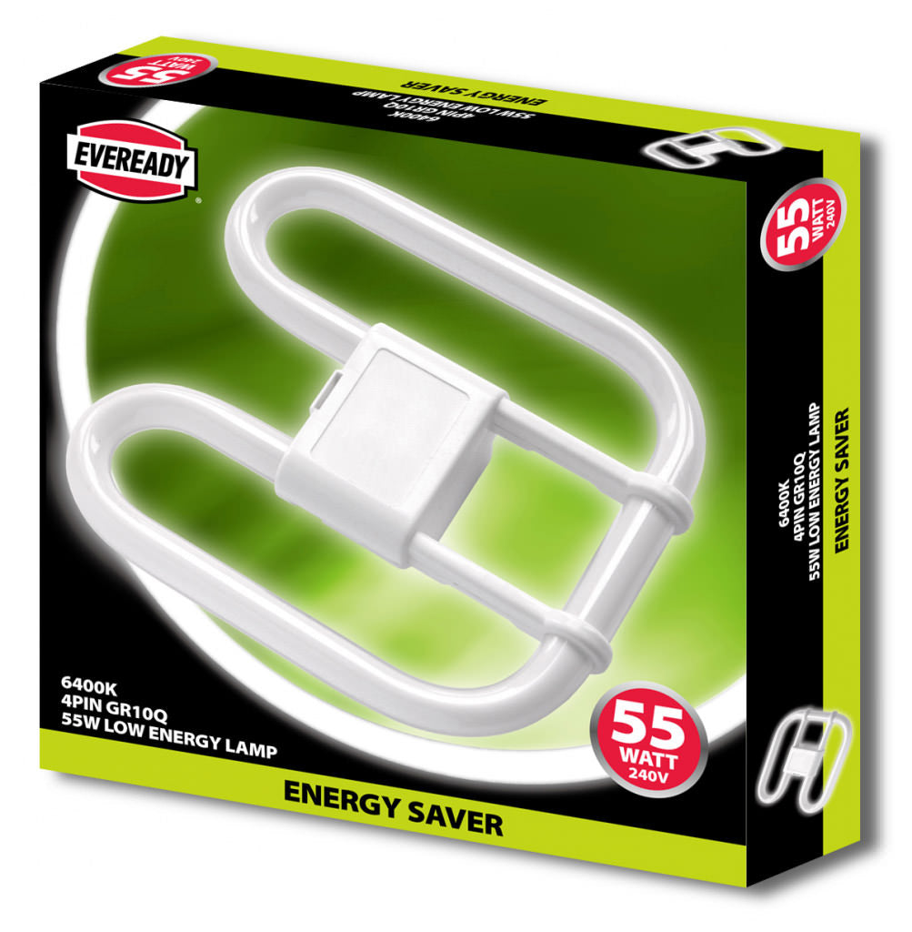 Eveready-2D Lamp 55W 4 PIN 240V CFL