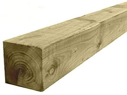 "3"" x 3"" (75mm) Pressure Treated Wooden Gate Fence Post 2.4m Fence Post 