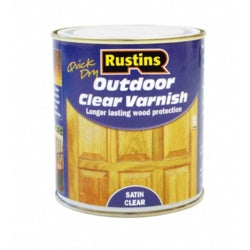 Rustins-Quick Dry Outdoor Clear Varnish Satin