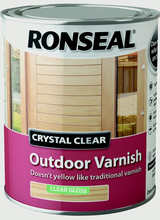 Ronseal-Crystal Clear Outdoor Varnish 750ml