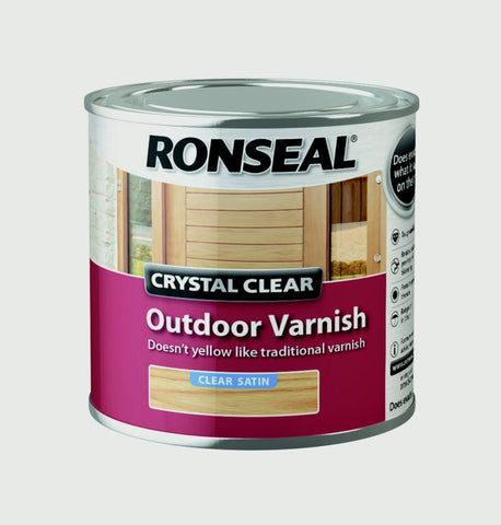 Ronseal-Crystal Clear Outdoor Varnish 250ml