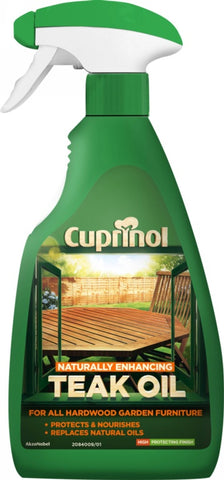Cuprinol-Natural Enhancing Teak Oil Spray Clear