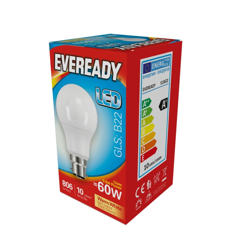 Eveready-LED GLS 9.6w