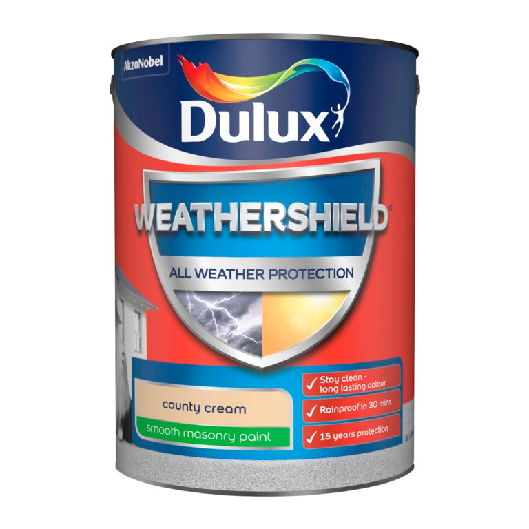 Dulux-Weathershield Smooth Masonry Paint 5L