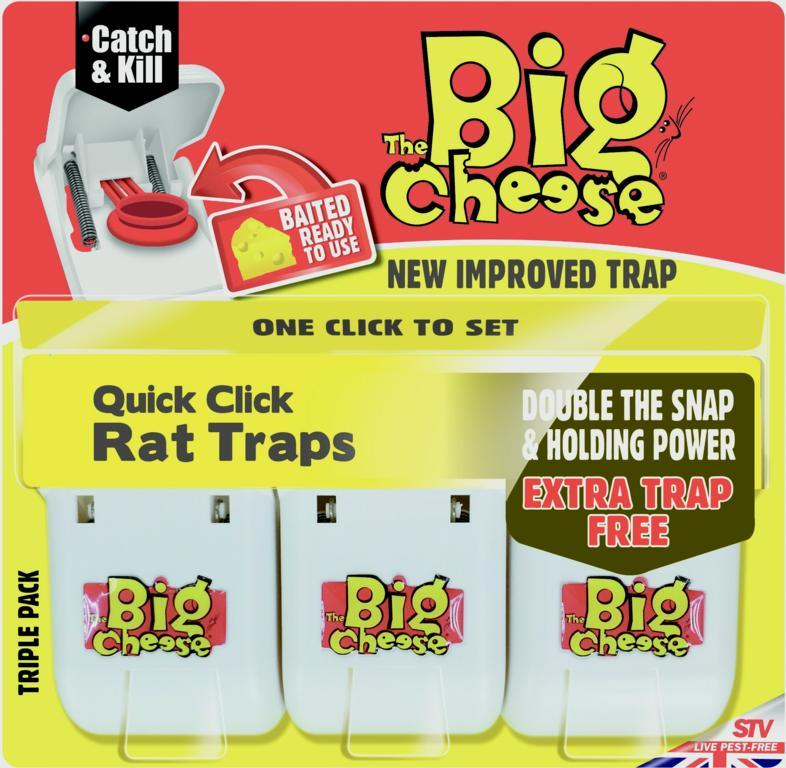 The Big Cheese-Quick Click Rat Traps
