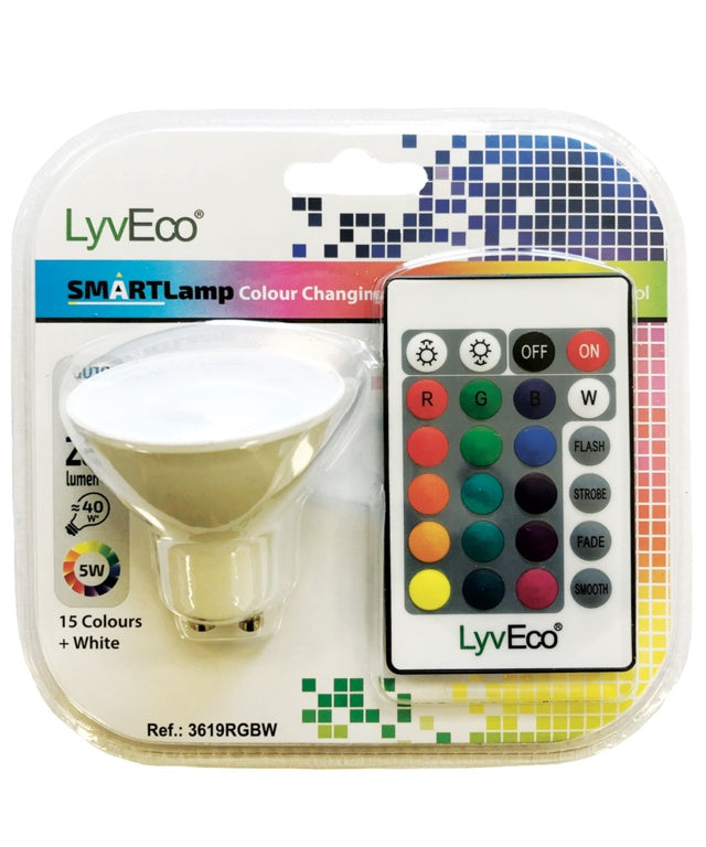 Lyveco-Remote Controlled Colour Changing GU10 Lamp