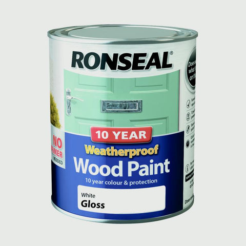 Ronseal-10 Year Weatherproof Gloss Wood Paint