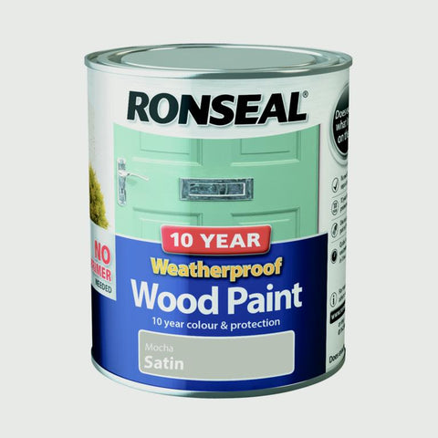 Ronseal-10 Year Weatherproof Satin Wood Paint