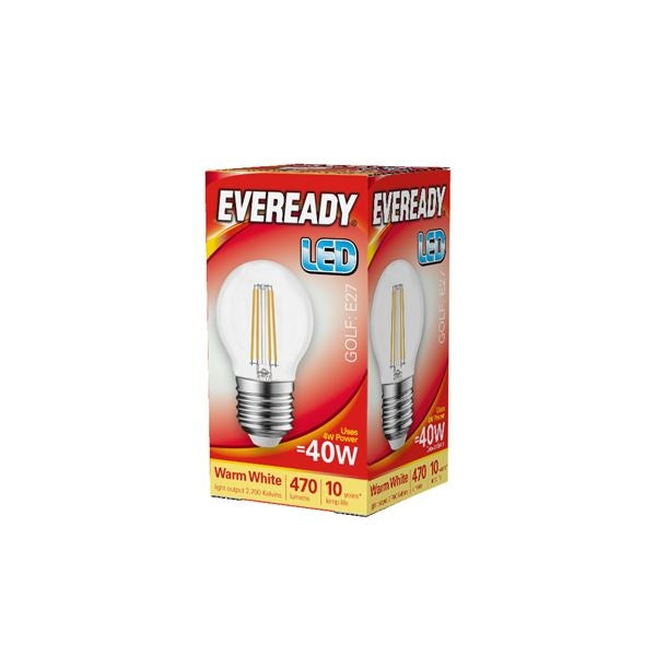 Eveready-LED Filament Golf 470LM E27 ES