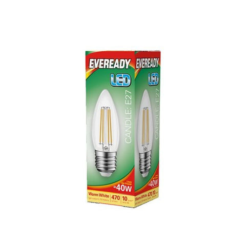 Eveready-LED Filament Candle 470LM E27 ES