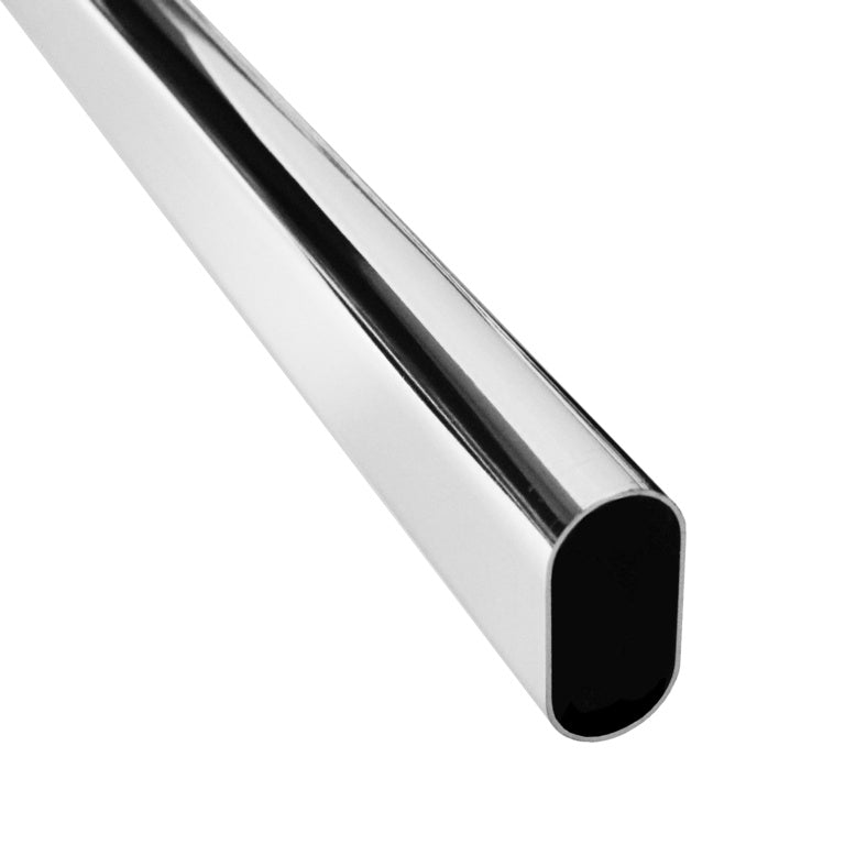 Securit-Chrome Oval Tube 30mm