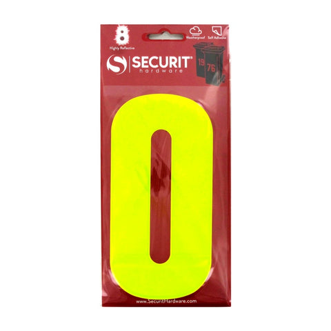 Securit-Hi Vis Self Adhesive Wheelie Bin Numbers