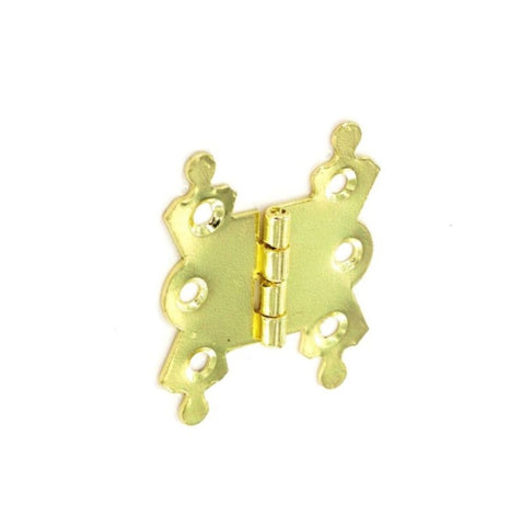 Securit-Fancy Hinges Steel Brass Plated (Pair)