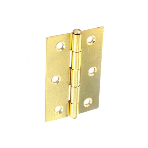Securit-Loose Pin Butt Hinges Brass Plated (Pair)