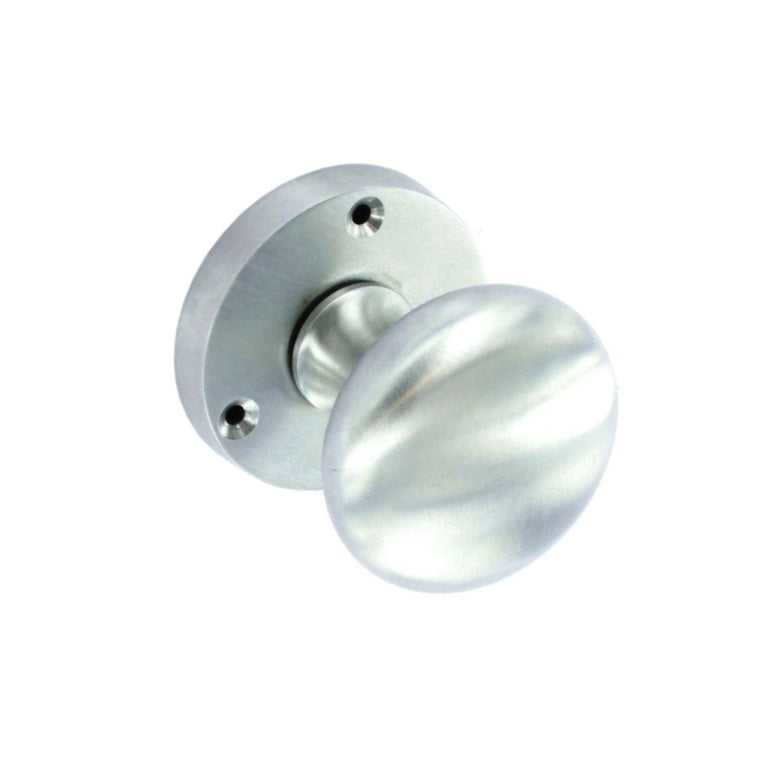 Securit-Satin Chrome Mortice Knobs (Pair)