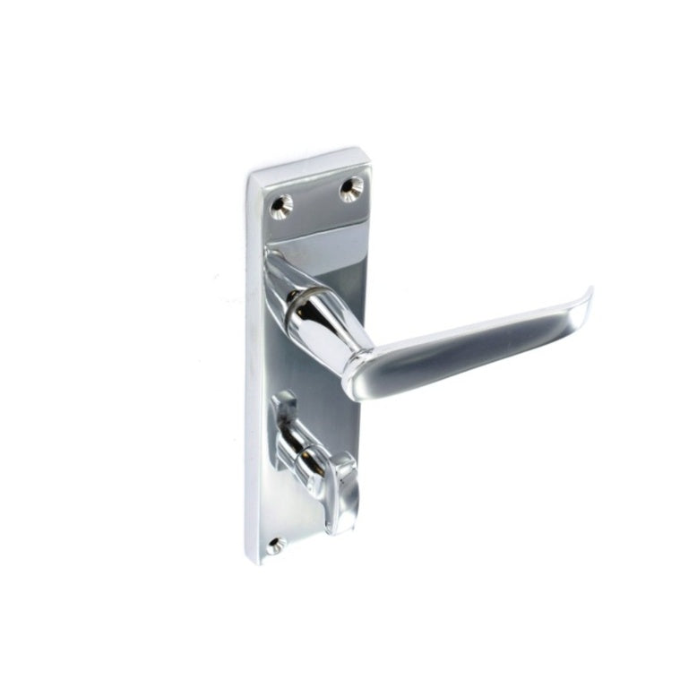 Securit-Chrome Flat Bathroom Handles (Pair)