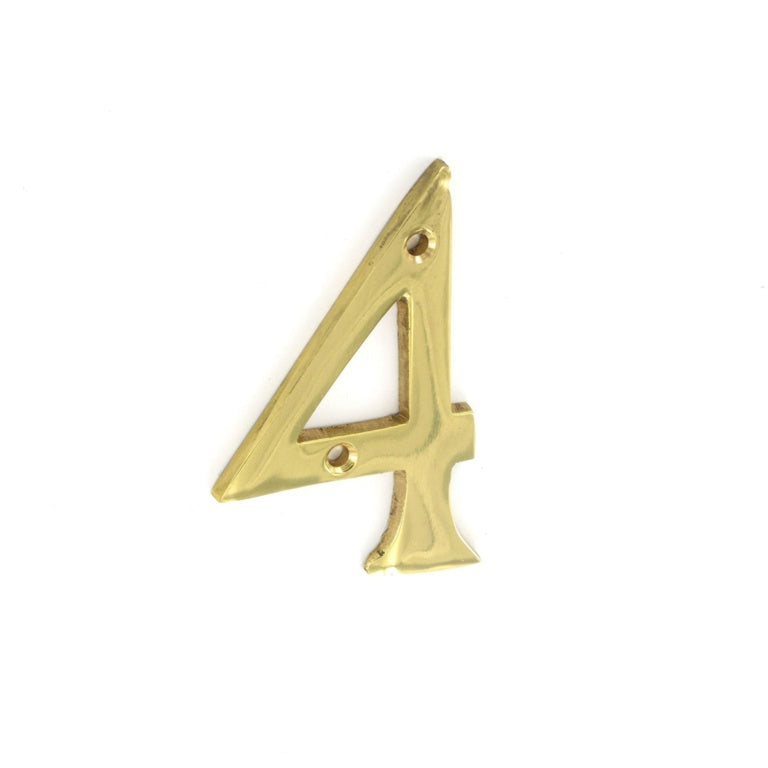 Securit-Brass Numeral No.4