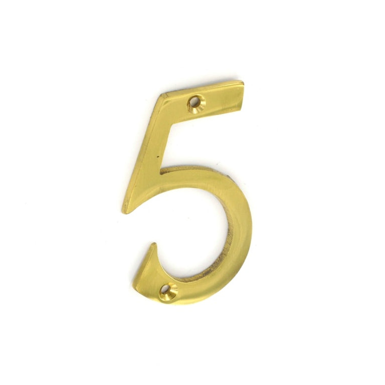 Securit-Brass Numeral No.5