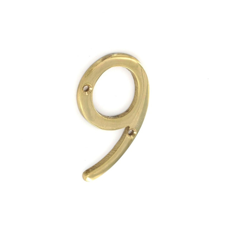 Securit-Brass Numeral No.9