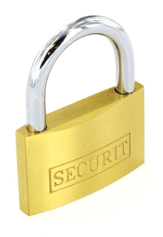 Securit-Gold Door Brass Padlock