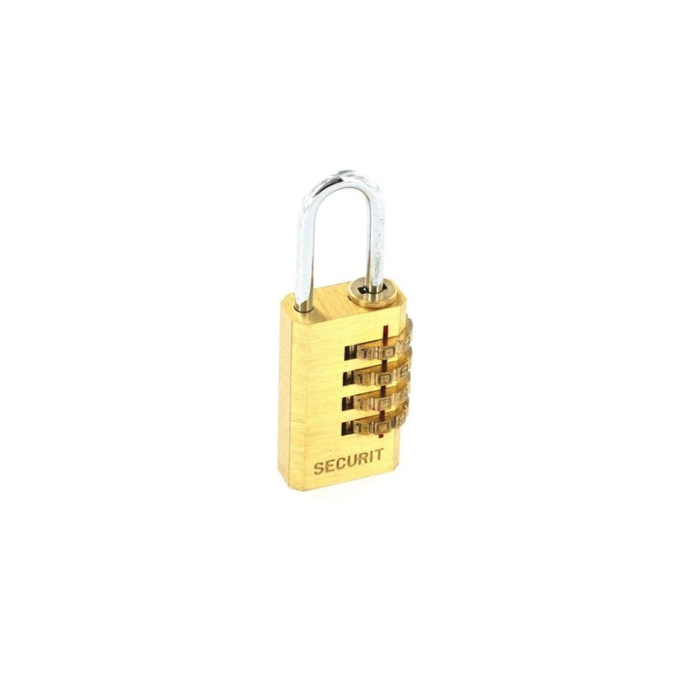 Securit-Resettable Code Lock Brass