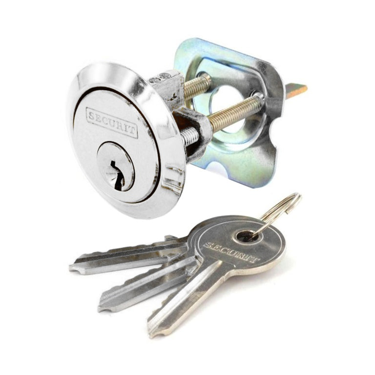 Securit-Chrome Plated Spare Cylinder with 3 Keys