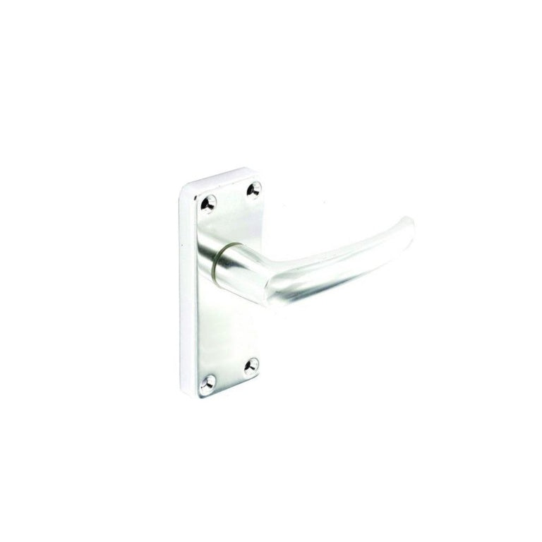 Securit-Aluminium Latch Handles Bright (Pair)