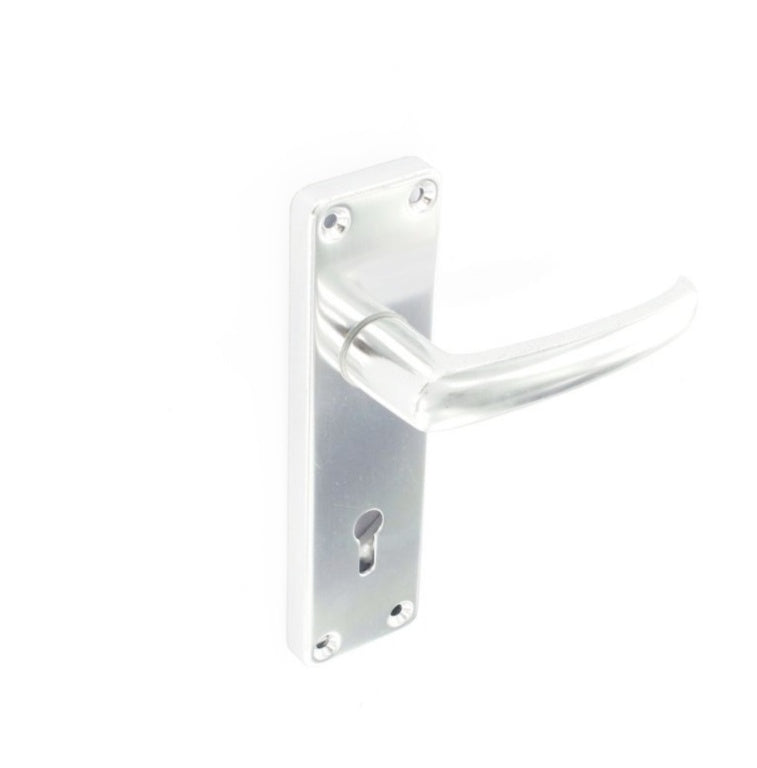 Securit-Aluminium Lock Handles Bright (Pair)