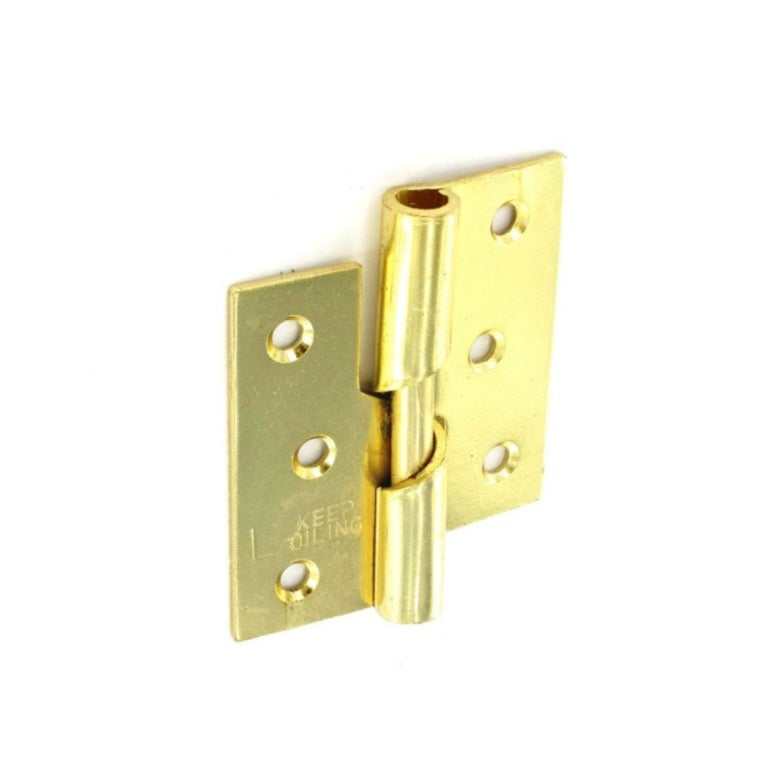 Securit-Rising Butt Hinges LH Brass Plated (Pair)