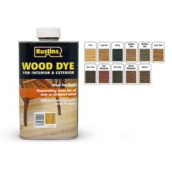 Rustins-Interior & Exterior Wood Dye 250ml