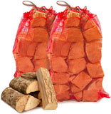 Seasoned Dried Softwood Logs for Firewood, Pits, Open Fireand Stoves. - Comes with The Log Hut Woven Sack.