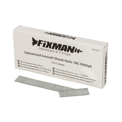 Fixman-Galvanised Smooth Shank Nails 18G 5000pk