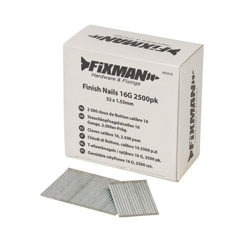 Fixman-Finish Nails 16G 2500pk