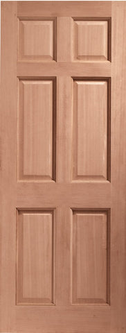 Colonial 6 Panel External Hardwood Door (Dowelled)