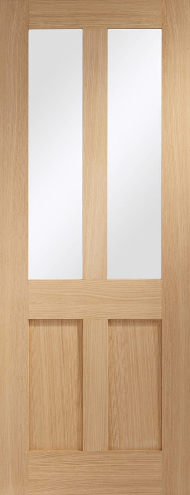 "Malton Shaker Internal Oak Door with Clear Glass -1981 x 762 x 35mm (30"")"