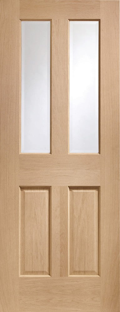 "Malton Internal Oak Fire Door with Clear Glass-1981 x 686 x 44mm (27"")"