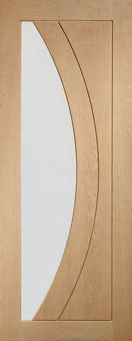 Salerno Internal Oak Door with Clear Glass-2040 x 726 x 40mm