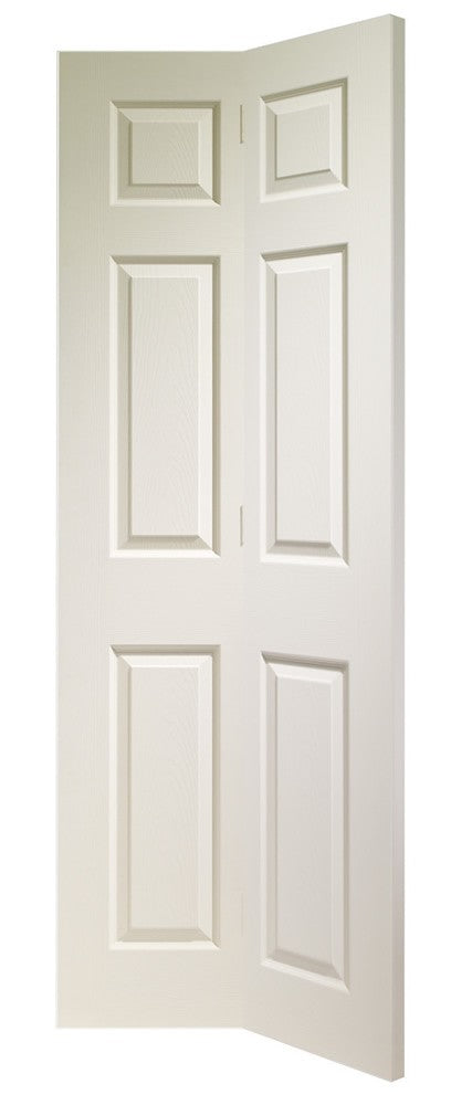 Colonist 6 Panel Bi-Fold Internal White Moulded Door - sidtelfers diy & timber
