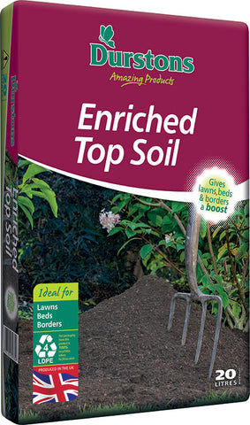 Durstons 20 LITRE ENRICHED TOP SOIL