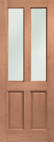 Malton Double Glazed External Hardwood Door (Dowelled) Obscure Glass