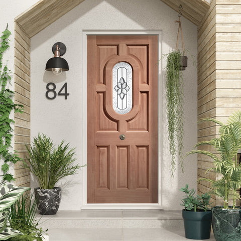 Acacia Double Glazed External Hardwood Door (Dowelled) with Chesterton Glass - - sidtelfers diy & timber