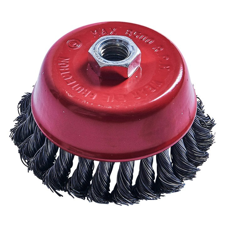 "AMTECH-4"" (100mm) Twist Knot Wire Cup Brush"