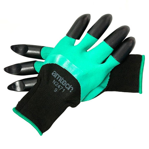 AMTECH-Garden Gloves With Claws Large (Size:9)
